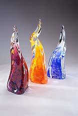 Convection Art Glass Sculptures