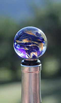 Classical Art Glass Wine Stopper