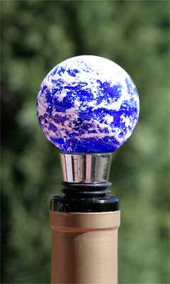 Dense Clouds Earth Wine Stopper