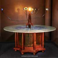 Celestial Gears Blown Glass Orrery