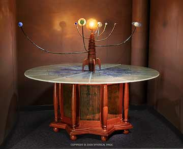 The Celestial Gears Blown Glass Carbon Fiber Orrery